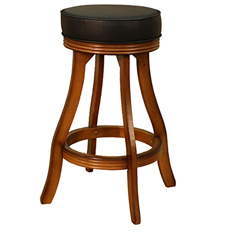 Bar Stool Swivel Counter Stool Vintage Oak 30-inch Bar Height For Sale