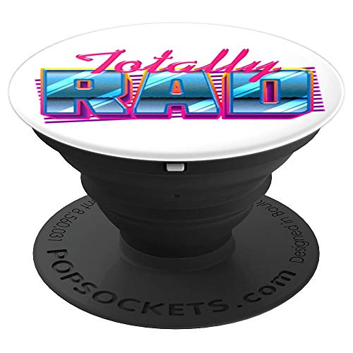 80s costume Totally Rad retro sci fi style design PopSockets Grip and Stand for Phones and Tablets]()