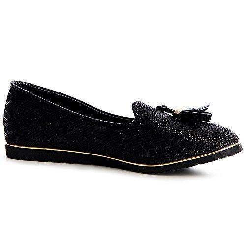 color para negro 36 talla mujer topschuhe24 Bailarinas 7ZPBnn