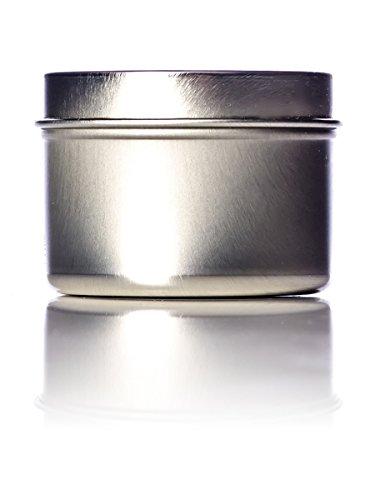 - 8 Oz Seamless Deep Body Tea Tin Can with Tight Lids - Set of 4