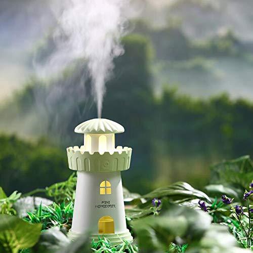 AIBAB USB Faro Creativo Nuevo Producto Humidificador Sueño Atmósfera Noche Luz Escritorio Hogar Mini Purificador De Aire...