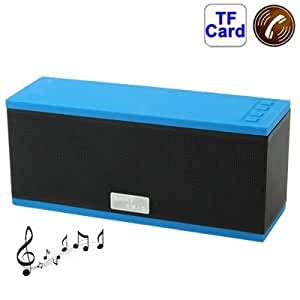 D501 Hi-Fi Stereo Bluetooth MIC Speaker for Samsung Galaxy S IV / i9500 / SIII / i9300 / i8190 / S7562 / i8750 / i9220 / N7000 / i9100 / i9082 / iPhone 5 / iPhone 4 & 4S / New iPad / BlackBerry Z10 / HTC / Nokia / Other Mobile Phones, Support Handsfree Function (Blue)