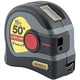 General Tools LTM1 2-in-1 Laser Tape Measure, LCD Digital Display, 50' Laser Measure, 16' Tape Measure
