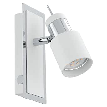 Eglo DAVIDA Interior GU10 5W Color blanco - Punto de luz (Color blanco, Interior, IP20, I, GU10, 1 bulb(s))