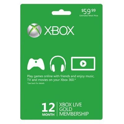 Xbox Live 12 Month Gold - Xbox Live Gold Cards