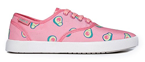Cute To The Core Cute Printed Sneaker - Casual Fashion Lace Up Shoe - Easy Comfortable Flat - Kodi Pink Kavo QhmE8Vt0