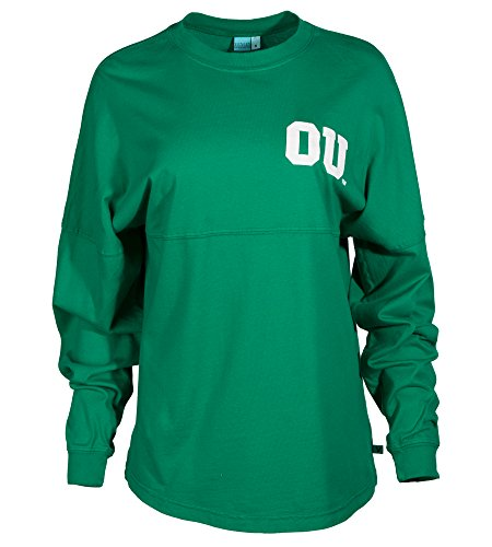 Official NCAA Ohio University Bobcats STAND UP AND CHEER! Women's Long Sleeve Spirit Wear Jersey (Ohio Basketball T-shirt)