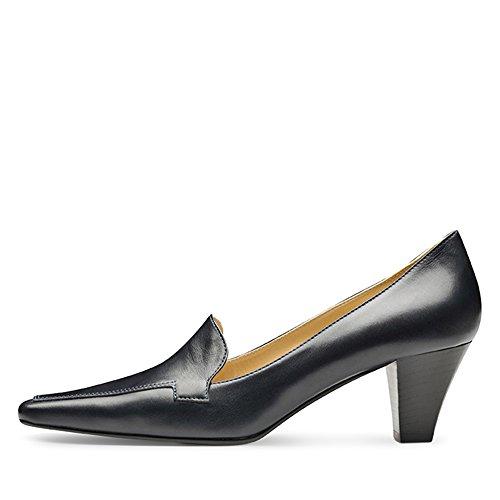 vestir oscuro Zapatos azul para mujer de de Piel Azul Shoes Evita q4w7gg