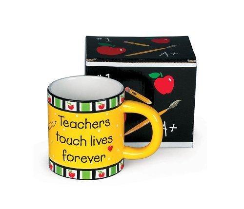 (Teachers Touch Lives Forever Coffee Mug Great Teacher's Gift)