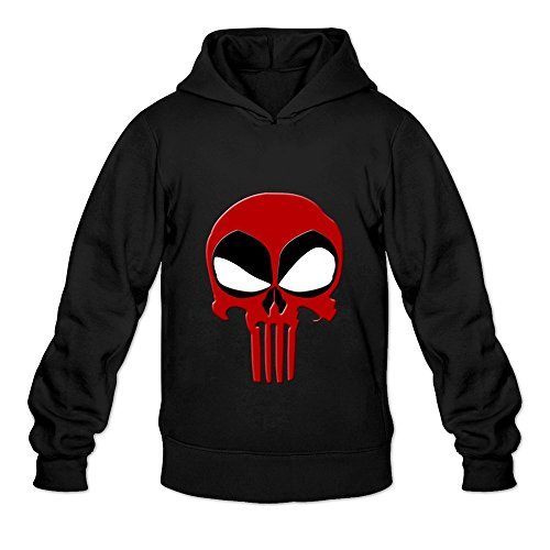 Deadpool Skull Hoodies Sweatshirts For Men Black S By EAPIS