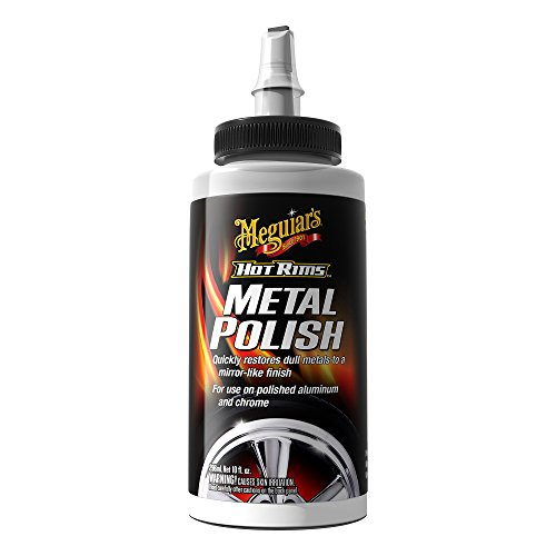 Meguiar's G4510 Hot Rims Metal Polish, 10 oz. (Best Chrome Polish For Rims)