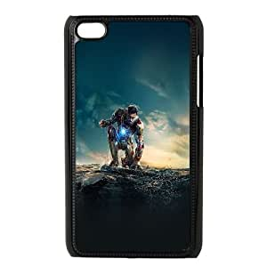 iPod Touch 4 Case Black ae67 ironman angry in hero poseture art JSK907486