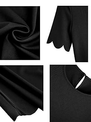 Romwe Women's Short Sleeve Casual A-Line Mini Party Dress