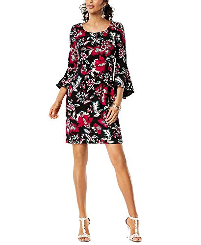 ncepts I.N.C. Printed Bell-Sleeve Dress (Beautiful Wallpaper, L) ()