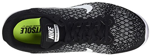 Nike Damen Air Max Sequent 2 Gymnastikschuhe Schwarz (Black/white-dark Grey-wolf Grey)