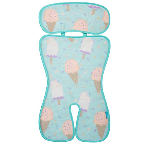COOLBEBE Upgraded Baby Stroller Cool Seat Mat Breathable 3D Mesh Cool Cushion Liner for Stroller Car Seat High Chair Pushchair - Ice Green