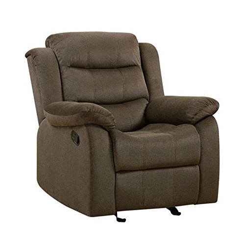 Coaster Home Furnishings 601883 Two-Tone Rodman Motion Collection Glider Recliner, Chocolate - Coaster Furniture Recliner