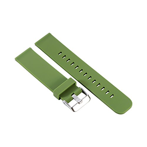 Silicone SmartWatch band,Feicuan 20mm Rubber Wrist Strap Replacement Watch Bracelet for Samsung Gear Sport -Green by Feicuan
