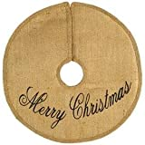 16'' Christmas burlap tree skirt