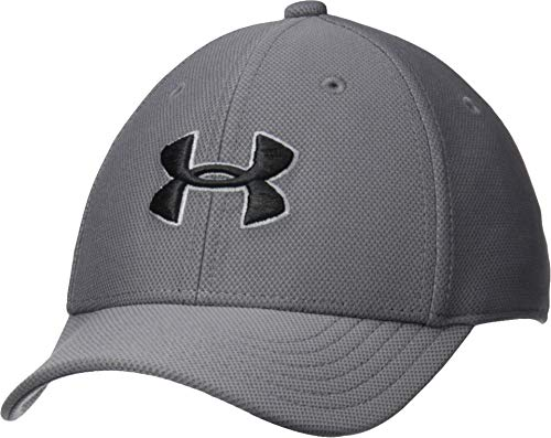Under Armour Boy's Blitzing 3.0 Cap, Graphite (040)/Black, Youth Small/Medium (Under Armour Youth Cap)