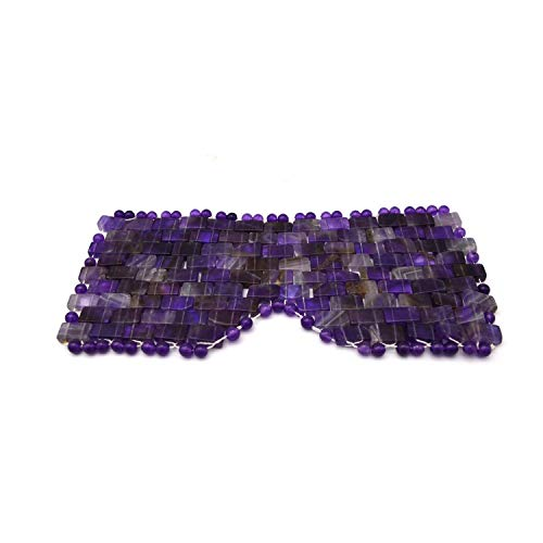 Natural Jade Sleep Mask & Blindfold,Natural Jade Eye Mask,Anti-Aging Hot or Cold Therapy Eye Mask Which is Soothing Cooling Detoxifying (Amethyst Crystal) ()