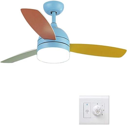 Ventilador de techo ZHAOSHUNLI Luz Blanca Luz Ajustable Velocidad ...