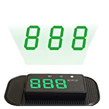 NikoMaku Heads up Display for Car HUD HBX-67 GPS Speedometer Overspeed Alarm Display Km/h Automatic Brightness Windshield Project for All Vehicles