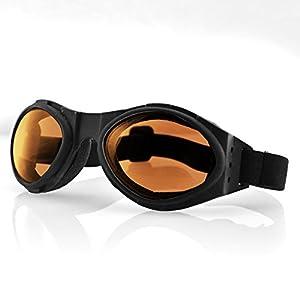 Bobster Bugeye Sunglasses, Black Frame/Amber Lens