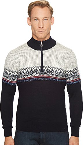 DALE OF NORWAY Men's Hovden Sweater C-Navy/Blue Shadow/Indigo/Raspberry/Off-White X-Large