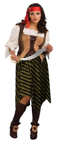 [Secret Wishes Full Figure Pirate Wench Costume] (Wench Womens Costumes)