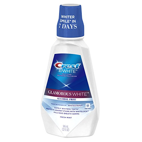 Crest 3D White Luxe Glamorous White Multi-Care Whitening Fresh Mint Flavor Mouthwash, 32 Fluid Ounce (Pack of 3) (packaging may vary)