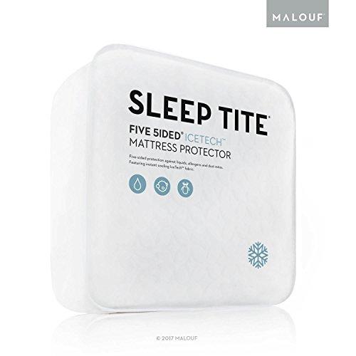 MALOUF Sleep TITE Five Sided IceTech Waterproof Mattress Pro