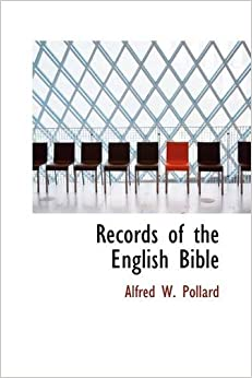 Book Records of the English Bible