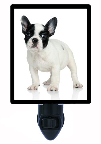 Dog Night Light - French Bulldog - White and Black