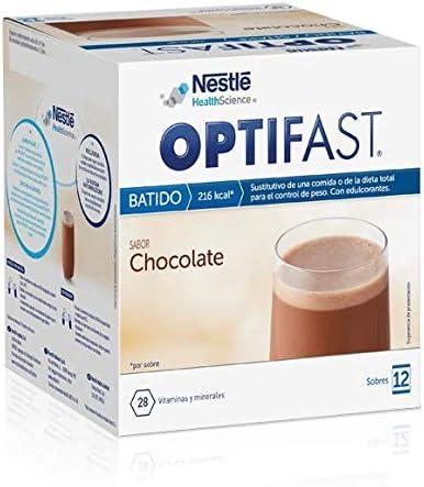OPTIFAST Batido Chocolate. Estuche de 12 sobres de 55g