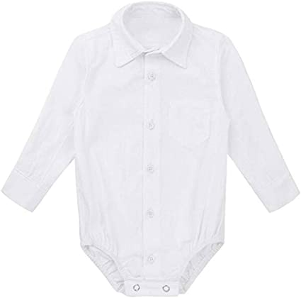 0-2Years,SO-buts Newborn Baby Boys Long Sleeve Formal Shirts Tops Gentleman Romper Bodysuit Wedding Party Outfits