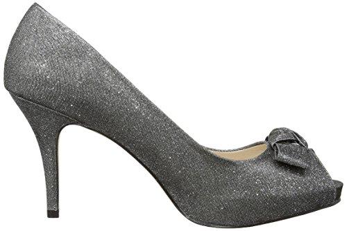 MENBUR Coulanges - Zapatos de vestir de raso para mujer Plata - Silber (Pewter 92)