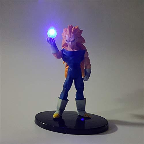 Dragon Ball Z Vegeta Super Saiyan Kamehameha Led Light Dragon Ball Super PVC Action Figures Anime Model Toy Gift
