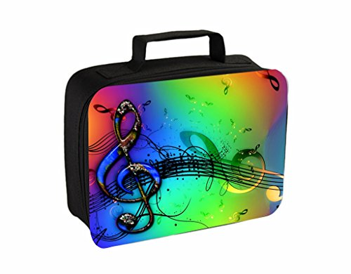 Colorful Clef Musical Design Jacks Outlet TM Travel Toiletry Bag with Hanger