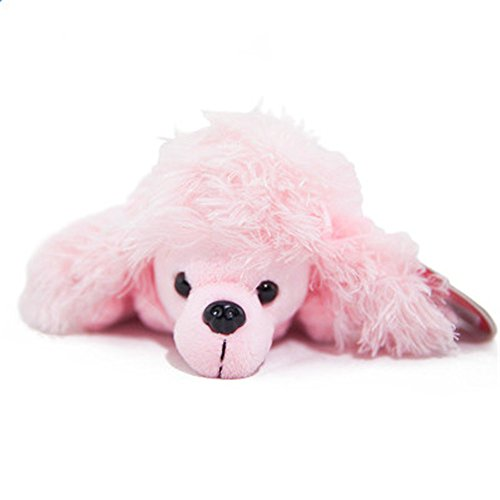 Kangkang @ Cute Cartoon Animal Design Soft Plush Pencil Box Case Pig,9.8'' Cartoon Pen Bag Stuffed Animal Dolls Cute Doll Make-up Bag (Pink Dog)