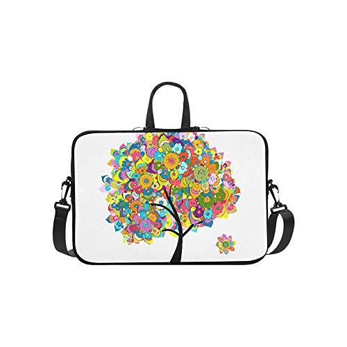 (Floral Tree for Your Life Pattern Pattern Briefcase Laptop Bag Messenger Shoulder Work Bag Crossbody Handbag for Business Travelling)