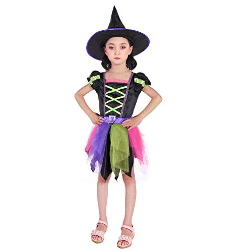 NSSONBEN Witch Girls Costume with Hat for