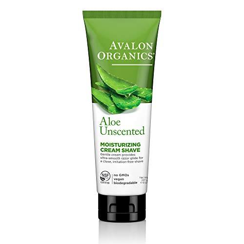 Avalon Organics Unscented Aloe Moisturizing Cream Shave, 8 oz. -