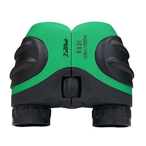 Luwint 8 X 21 Green Kids Binoculars for Bird Watching, Watch