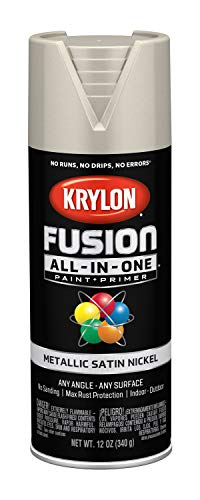 Krylon K02772007 Fusion All-in-One Spray Paint, Satin Nickel (Best Satin Nickel Spray Paint)