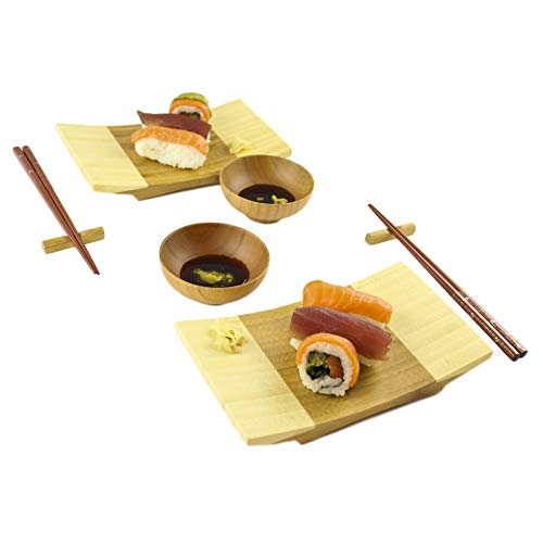 - Zoie + Chloe 100% Natural Bamboo Sushi Gift Set for Two