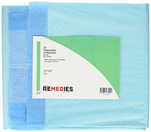 REMEDIES Disposable Underpads Super Absorbent Count product image