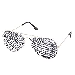 Rhinestone Goggles with Bling Crystal Glass Lens