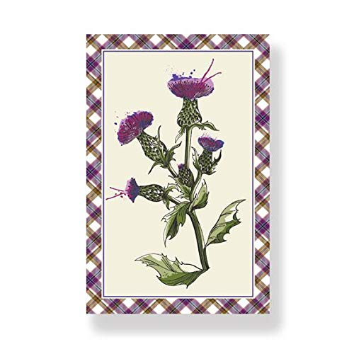 D&C Supplies Wild Thistle Tea Towel
