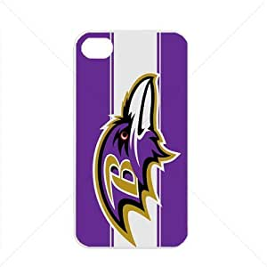 NFL American football Baltimore Ravens Fans Case For Iphone 5/5S Cover PC Soft (White)
